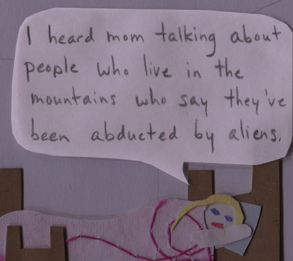 "The Middlest Sister: I Want to Believe. ""I heard mom talking about these people who live in the mountains who say they've been abducted by aliens."""