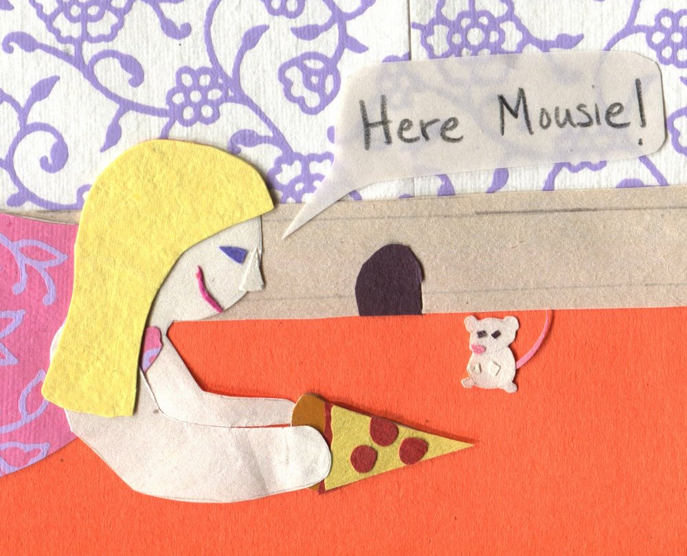 """The Middlest Sister: Mouse in the House """"Here Mousie!"""" Pizza"""