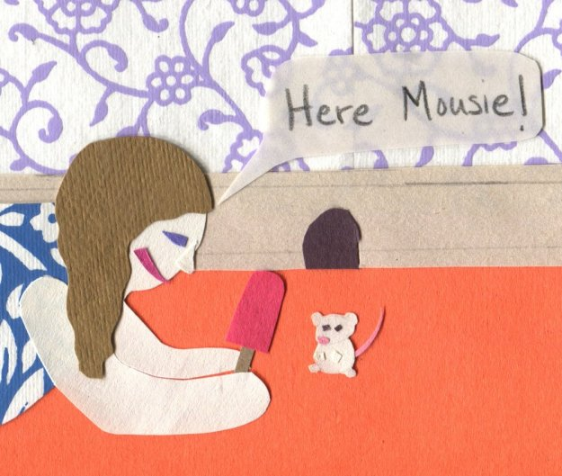 "The Middlest Sister: Mouse in the House ""Here Mousie!"" Popsicle"