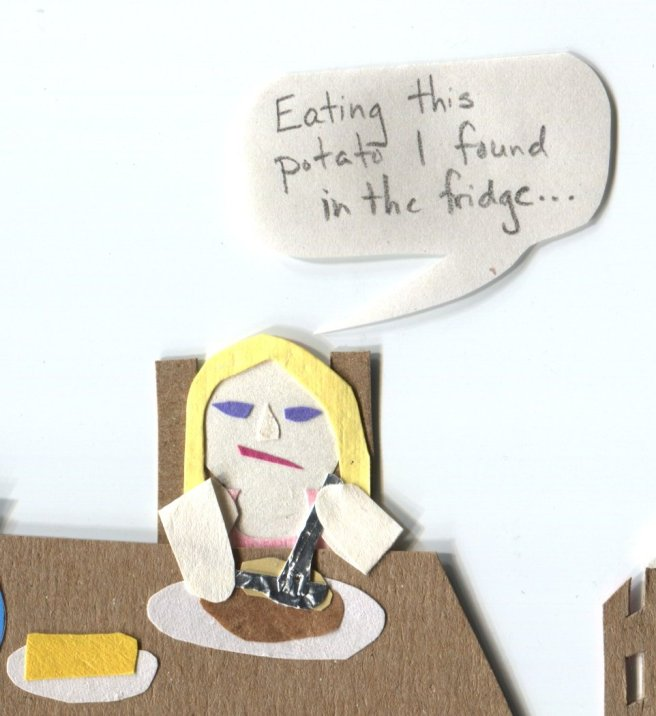 """The Middlest Sister: The Potato of the Sea. """"Eating this potato I found in the fridge..."""""""