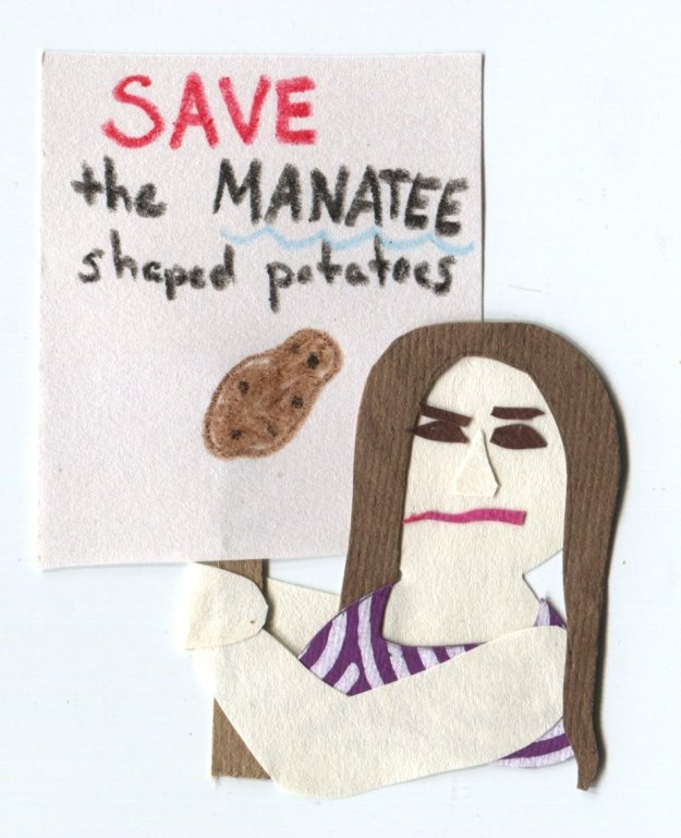 "The Middlest Sister: The Potato of the Sea ""SAVE the MANATEE shaped potatoes"""