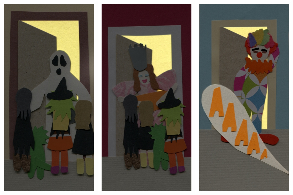 Ashley, Chrissy, Charlotte and Tess continue to trick-or-treat.